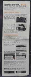 Vintage Polaroid Polacolor Type 108 Land Film Pack Instruction Manual