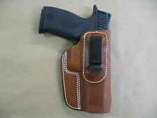 S&W Smith & Wesson M&P 9mm 40 IWB Leather In The Waistband Concealed Holster TAN