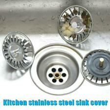 Stainless Drain Cover Kitchen Water Sink Drainer Strainers Disposal Stopper Plug