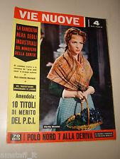 VIE NUOVE=1959/4=SARITA MONTIEL LA VIOLETERA FILM COVER MAGAZINE=PASCALE PETIT=