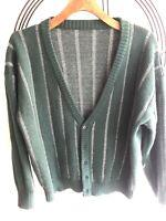 BNWT Obliviate vintage inspired Green Wool Knit Unisex Buttoned Cardigan SzMed