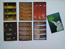 7 cartes postales MORDILLO / VERLAG tendance  MARRON VERT