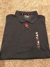 NWT Mens  FILA Performance Golf Polo Shirt Big & Tall Dark Gray 3XB MSRP $48