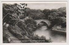 Aberdeenshire postcard - The Path by the Brig 'O Balgownie, Aberdeen - RP