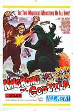 King Kong Vs Godzilla Poster 04 Metal Sign A4 12x8 Aluminium