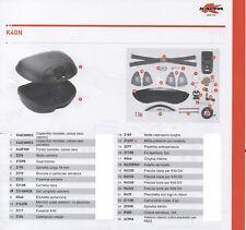 K40CNMDX Ricambio COPERCHIO DESTRO MONTATO per Valigia Laterale KAPPA K40N
