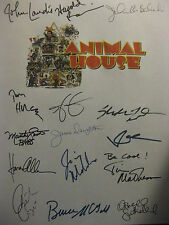 National Lampoons Animal House Signed Script X15 John Belushi Kevin Bacon reprnt