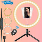 LED Selfie Ring Light Tripod Stand & Cell Phone Holder for Youtube Makeup Live