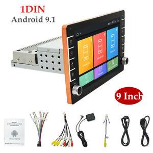 9'' 1DIN  DC 12V Android 9.1 Car Stereo Radio GPS Navi 1+16GB Wifi MP5 Player