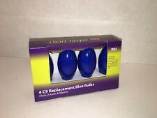 Pack of 4 Blue C9 Holiday Replacement Bulbs