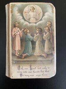 Antique Vintage Celluloid Cover Catholic Child's Prayer Book Copyright 1926