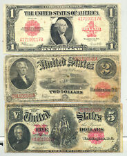 $1 Series 1923, $2 1917 and $5 1907 (Fr. 40, 60 and 88) United States Notes