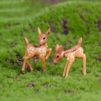 Creative Fawn Animal Model Decoration Garden Yard Micro Landscape Craft LB