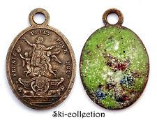 Médaille religieuse St.Sernin Priez pour Nous. France, XIX°. Bronze, émail