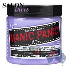 2 X Hair Dye Manic Panic Classic Cream Virgin Snow White Toner Gloves