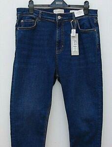 Marks And Spencer Ladies Per Una Skinny Denim Ankle Grazer Trousers Size 16 Bnwt