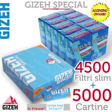5000 Cartine GIZEH SPECIAL CORTE Spesse Bianche 100 + 4500 FILTRI RIZLA SLIM 6mm