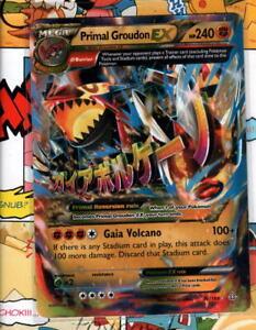 Pokemon TCG MEGA Primal Groudon EX 86/160 XY Primal Clash Ultra Rare NM/M