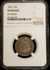 1835 Capped Bust Quarter 25c Coin NGC XF Details