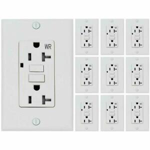 20 AMP GFCI (GFI) Receptacle Outlet -TAMPER RESISTANT WR WHITE UL GFCI  (10PACK)