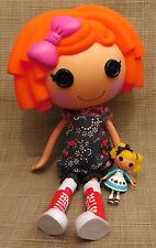 2009 LALALOOPSY SUNNY SIDE UP TWIN DOLL ORANGE HAIR GIRL FULL SIZE DOLL & Little