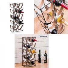 Botellero de metal con espacio para 10 botellas 25x61x16 cm, correas resistentes
