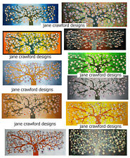 art oil painting landscape large abstract tree Huge flower  original  aboriginal