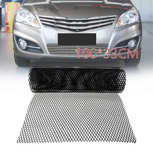 6x12mm Aluminium Alloy Black Grill Mesh Car Bumper Vent Metal Rhombic Grille Net