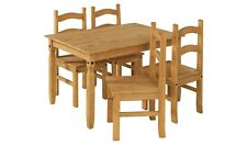 Home San Diego Solid Wood Dining Table & 4 Chairs