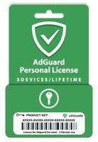 AdGuard Premium Personal - 3 DEVICES - LIFETIME - MULTIDEVICE - Original License