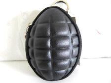 Hand Grenade Coin Change Purse Keychain Zipper Black Key Purse Bag Case Fashion
