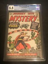 Journey Into Mystery #83 CGC 5.5 1962 1st Thor! Key Silver! Avengers! L12 206 cm