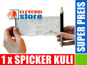 Spicker Kulli, Kuli, SCHUMELZETTEL IM KUGELSCHREIBER // ELEVENDI STORE //