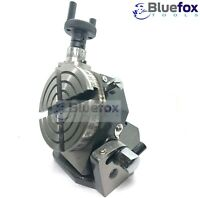 """3"""" Inches (75 MM) Tilting Rotary Table (4 Slots) for Milling, Metalworking"""
