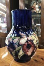 Vintage Artist Signed MOORCROFT Large Pottery Vase ORCHID Pattern