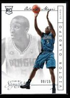 VICTOR OLADIPO 9/15 MINT PACERS ROOKIE CARD RC SP 2013-14 PANINI SIGNATURES #317