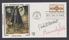 Robert Merrill & Beverly Sills, Opera Stars, signed Metropolitan Opera FDC