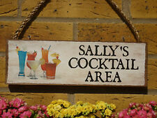 PERSONALISED DRINKS AREA SIGN PARTY SIGN YOUR OWN NAME SIGN FUN SIGN CUSTOM MADE