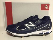 New Balance Mens Pro 1103 Low Metal Baseball Cleats Size 13 Blue White $99.00