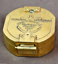 ANTIQUE BRASS BRUNTON COMPASS LONDON 1818 VINTAGE COMPASS