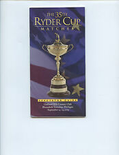 "2004 ""35TH RYDER CUP OFFICIAL SPECTATOR GUIDE"" (OAKLAND HILLS, DETROIT, MICH.)"