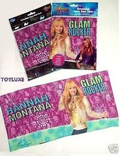 Disney Hannah Montana Miley STRETCH Cloth BOOK COVER Fabric School Washable NEW
