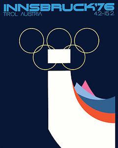 "1976 Innsbruck Austria Olympics - Mini Poster  8""x10"" Color Photo"