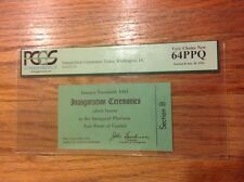 Original 1961 President John Kennedy INAUGURAL PLATFORM Inauguration Ticket PCGS