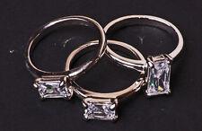 Set di 3 Bellissimi incastro come anelli cristalli SPUMANTE look classico (ZX19)