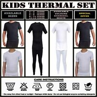 Kids Thermal Winter Warm Underwear Long Sleeve Top Bottom Pants Set Boys Girls