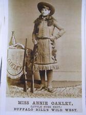 Miss Annie Oakley Wild Bills Wild West show