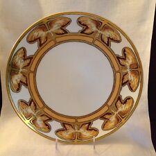 Thomas Sevres Bavaria Art Nouveau Charger Plate, Handpainted Artist Signed