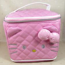 HelloKitty Pink Cosmetic Makeup Bag Case 2017  New  Pu Lady Girl Women Big Size