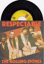 "THE ROLLING STONES RESPECTABLE 1978 VINYL RECORD YUGOSLAVIA 7"" PS"